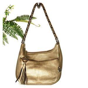 Brighton Barbados Ziptop Hobo Bag Leather